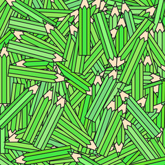 vector green crayons background texture