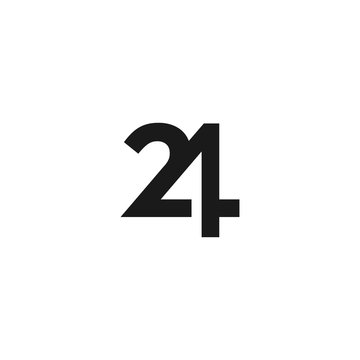Number 24 logo icon design template elements