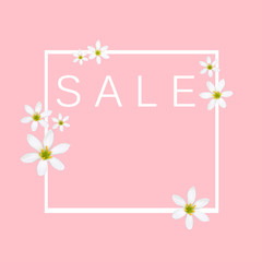 stock-photo-spring-background-sale-pink-color-from-white-flowers-sale-concept-banner-discount