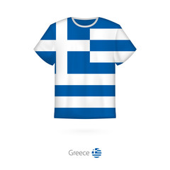 T-shirt design with flag of Greece.
