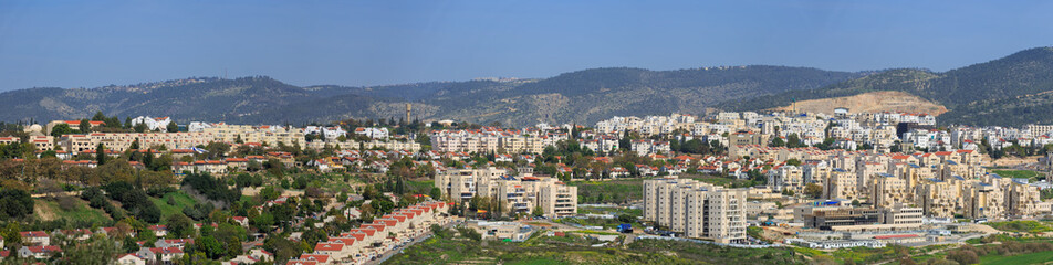 Wide panorama of Beit Shemesh