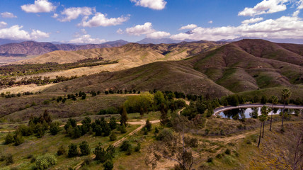 Drone View Of Chapman Hills Looking Towards Mount San Gorgonio