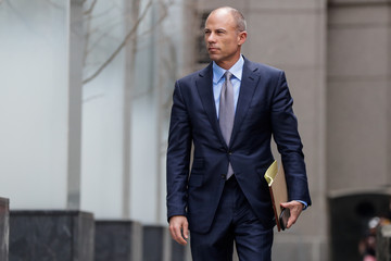 Michael Avenatti, attorney for Stormy Daniels, is pictured outside the Manhattan Federal Court in New York City, New York