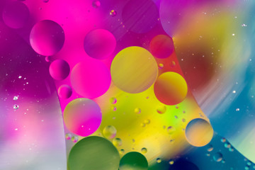 Multi Color Oil and Water Abstract Background