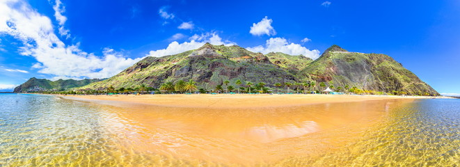 Las Teresitas, Tenerife,Canary islands,Spain: Playa de Las Teresitas, a famous beach near Santa Cruz de Tenerife Wall mural