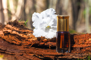 Concentrated patchouli oil. Indian traditional incense.