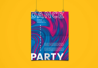 Poster Layout with Fluid Background Element