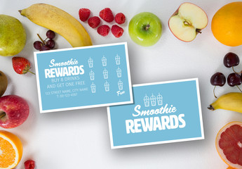 Smoothie Shop Loyalty Card Layout