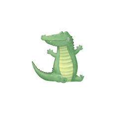 crocodile digital clip art cute animal