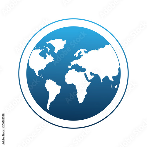 Globe world planet earth map vector illustration degraded color blue globe world planet earth map vector illustration degraded color blue gumiabroncs Image collections