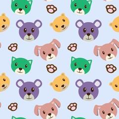 Bear Cartoon Baby Theme Seamless Pattern