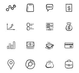 Doodle Business icons set