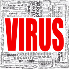 Virus word cloud.