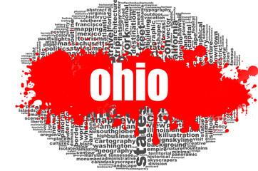 Ohio word cloud design