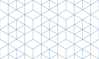 Pattern geometric blue line seamless luxury design abstract background.