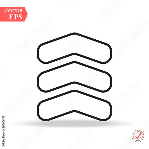 Chevron Line Icon In Trendy Flat Style Isolated On Background