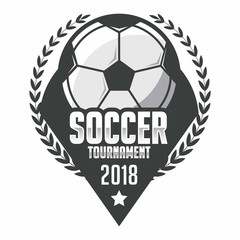 Soccer badge, football logo sport