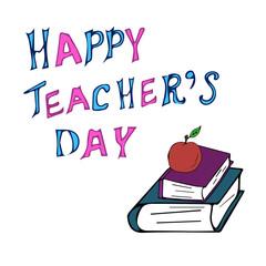 Congratulation of a happy teacher's day vector image