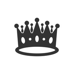 Crown diadem vector icon in flat style. Royalty crown illustration on white isolated background. King, princess royalty concept.