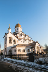 Church of the Holy Reverend Prince Alexander Nevsky. Moscow. Russia.