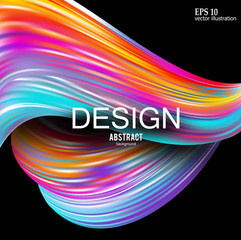 Abstract vector background. Rainbow curve image for screen, background. Design  for electronic device