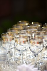 Crystal glasses for holiday