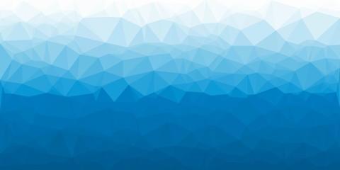 Polygonal blue water vector