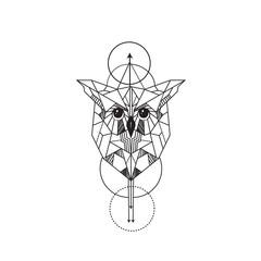 geometric owl tattoo designs