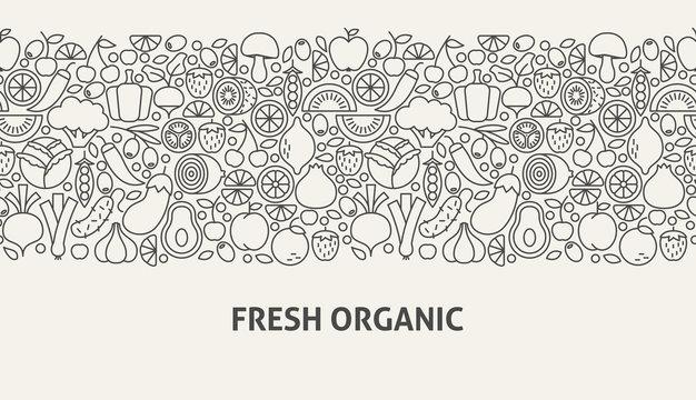 Fresh Organic Banner Concept