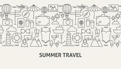 Summer Travel Banner Concept