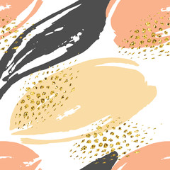 Abstract hand drawn seamless repeat pattern.