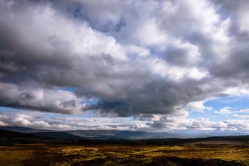 Scottish highlands after a storm