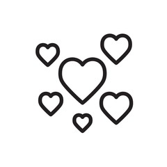 hearts outline vector icon