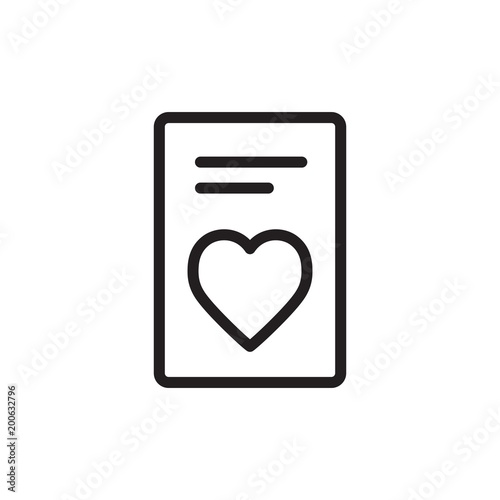 Wedding Invitation Outline Vector Icon Stock Image And Royalty Free