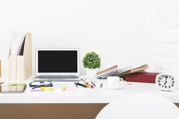 Stylish designer table top closeup
