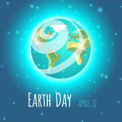 World Earth Day poster, banner, logo design. Vector illustration