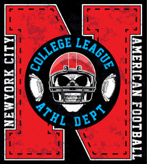 American Football Graphic