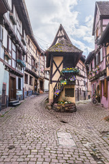 Half Timbered Houses in Eguisheim, Alsace, France