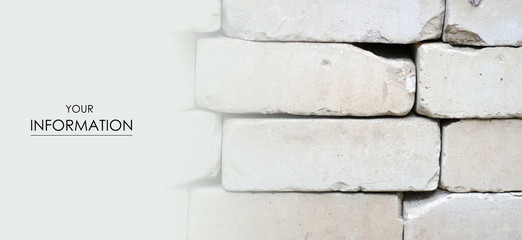 Gray bricks are stacked construction texture