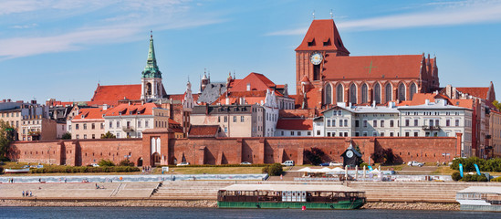 Panoramic view of the city. Torun, Poland.