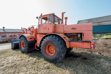 Old big tractor