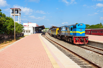 The Jaffna railway station