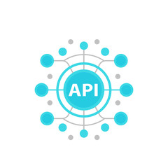API, application programming interface vector illustration