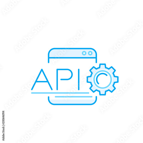 api application programming interface vector icon stock image and