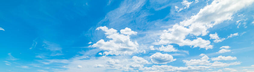 Blue sky with soft clouds in spring