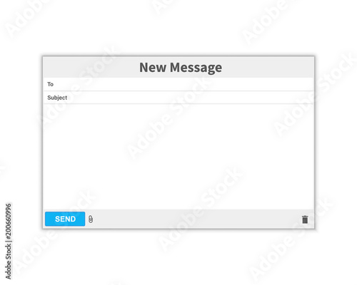 Email Message Blank Window Of E Mail Template E Mail Blank