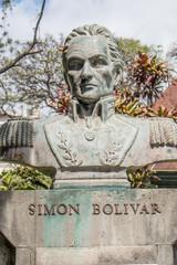 Monument de Simón Bolívar Funchal de Jardim Municipal Madeira island Portugal