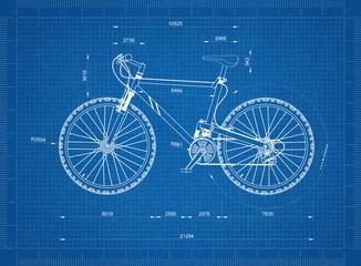 Mountain Bicycle blueprint