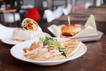 Fast food restaurant dishes