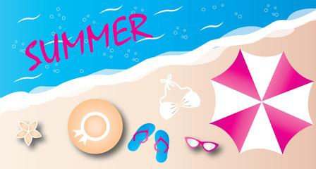 summer beach vacation header banner